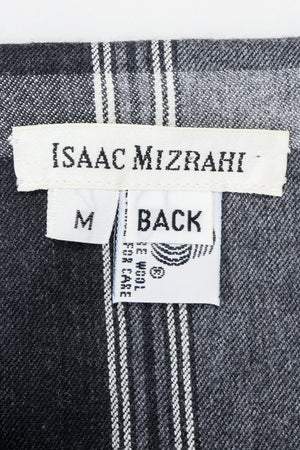 Vintage Isaac Mizrahi Label on  Plaid Flannel Fabric