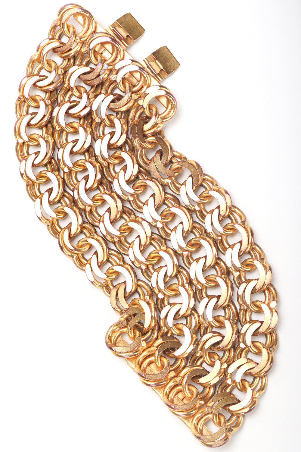 Recess Designer Consignment Vintage Isabel Canovas Wide Chain Cuff Bracelet Los Angeles Resale
