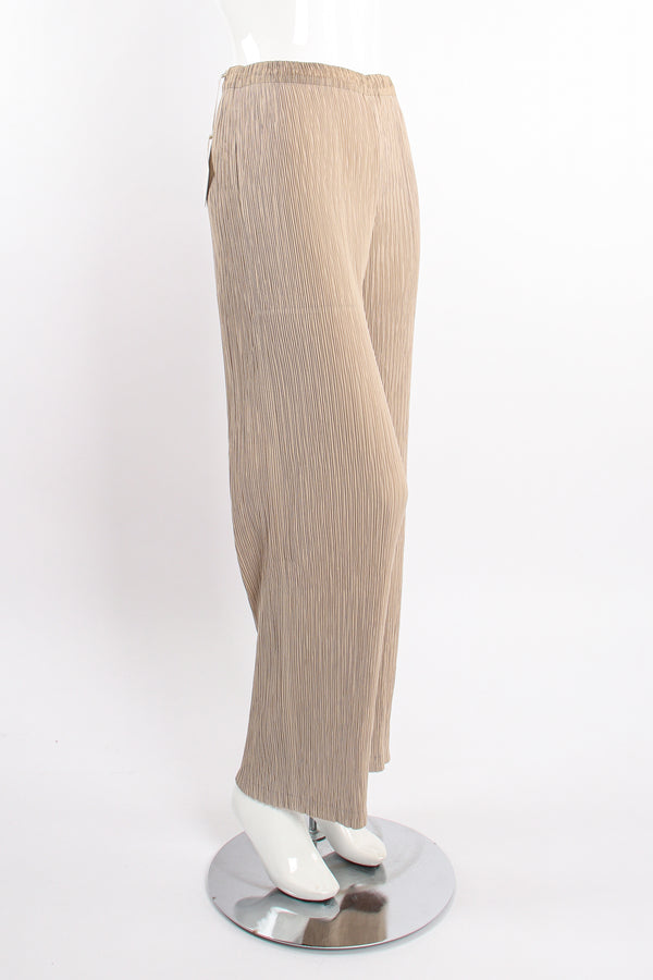 Vintage Issey Miyake Double Jersey Technical Pleated Pant on Mannequin angle at Recess Los Angeles