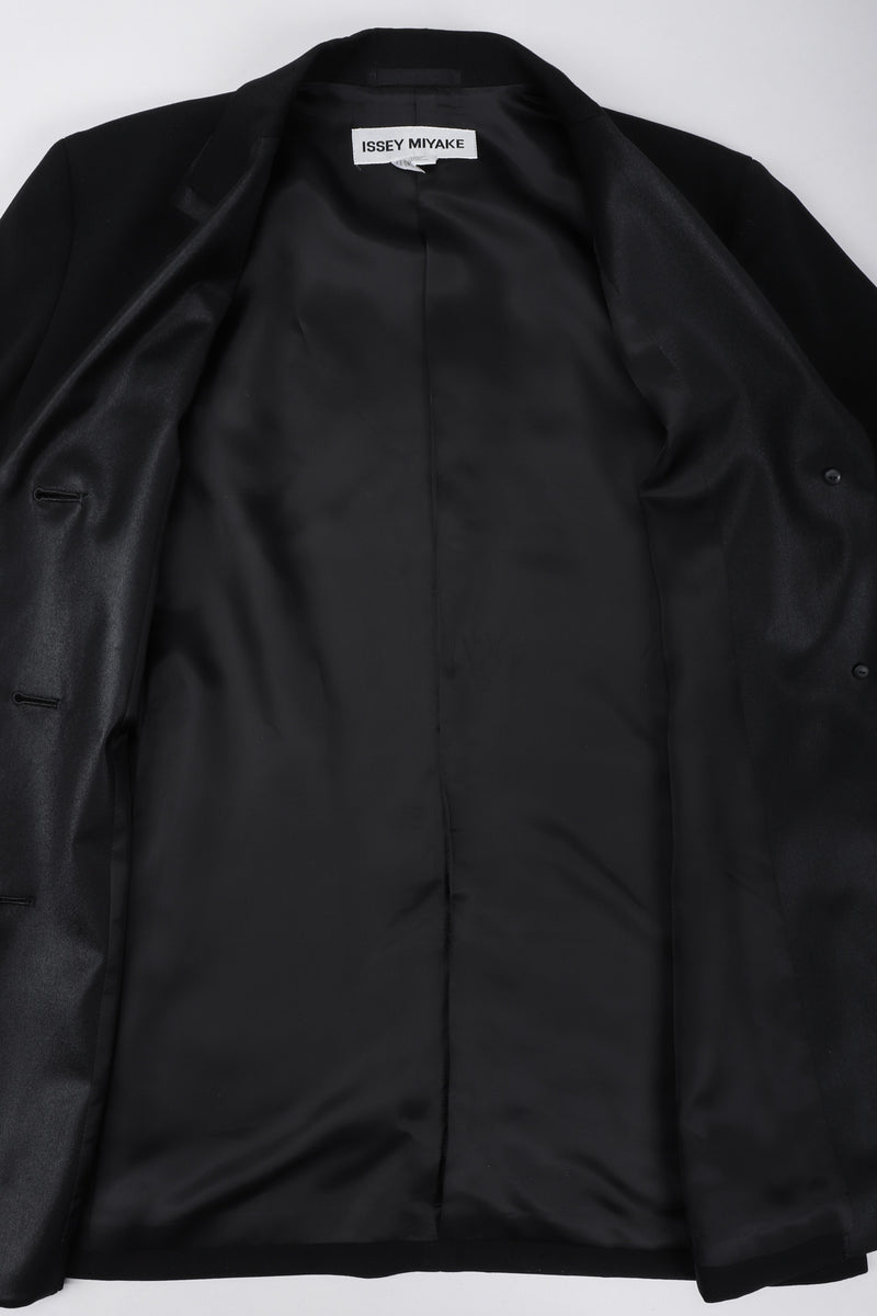 Recess Los Angeles Vintage Issey Miyake Faux Double Lapel Tuxedo Suit