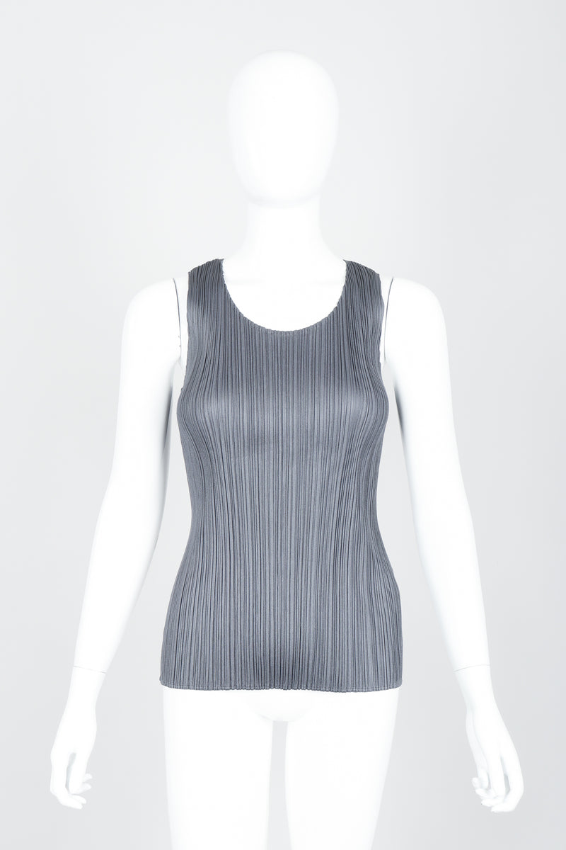 Vintage Issey Miyake Pleats Please Pleated Tank On Mannequin at Recess