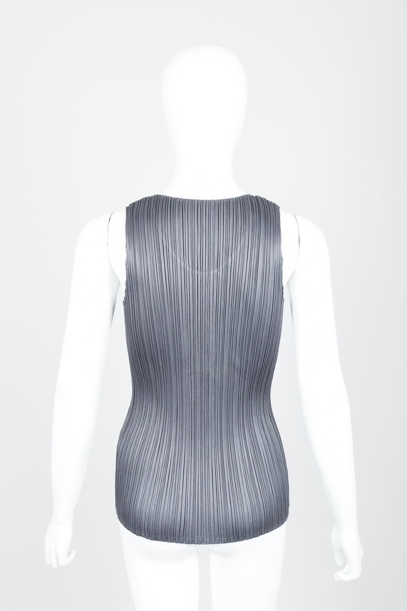 Vintage Issey Miyake Pleats Please Pleated Tank On Mannequin back at Recess