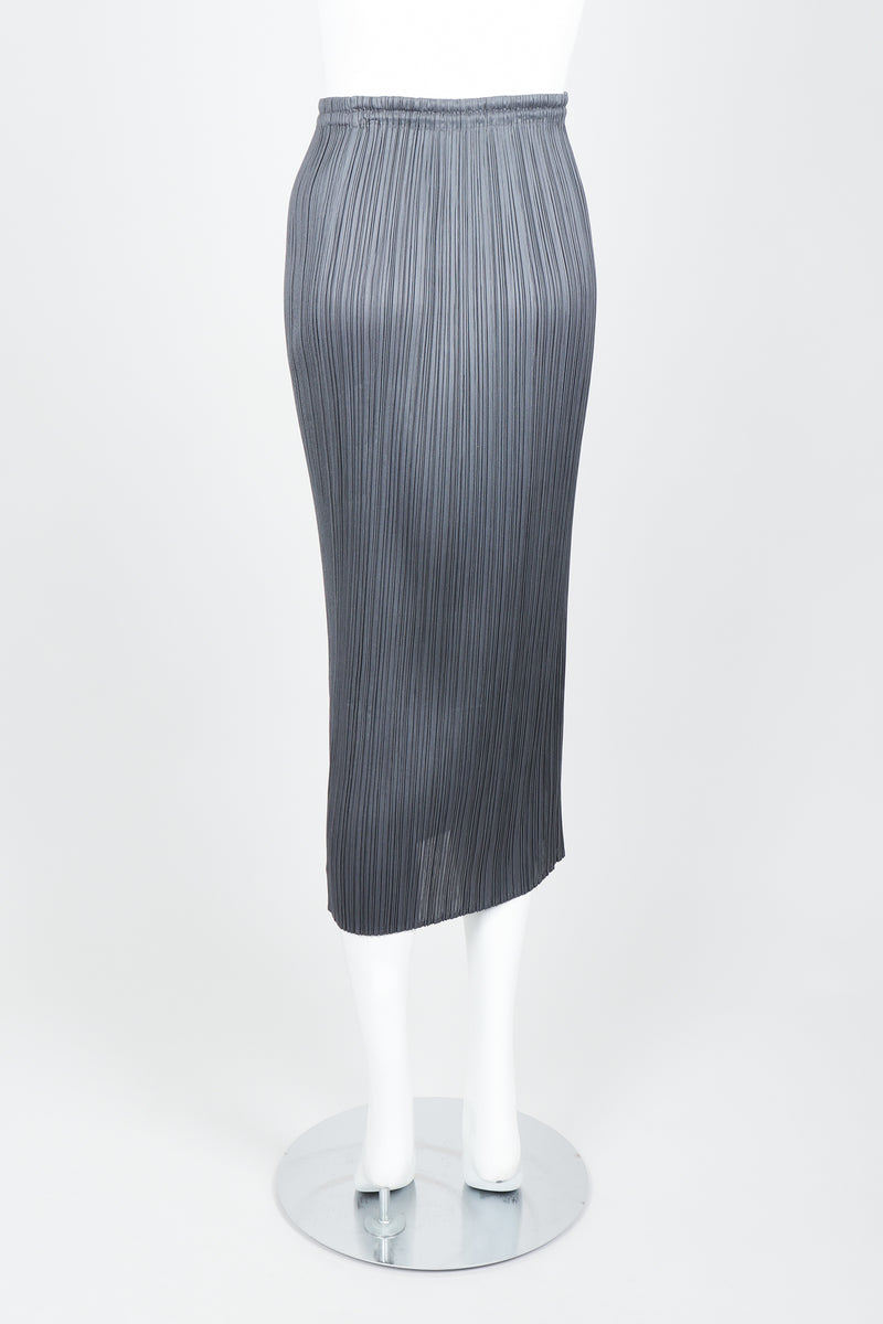 Vintage Issey Miyake Pleats Please Pleated Midi Skirt On Mannequin back at Recess
