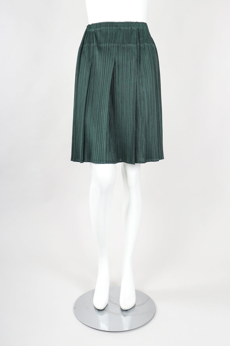 Recess Designer Consignment Vintage Issey Miyake Pleats Please Pleated 3-Piece Skirt Ensemble Outfit Set Los Angeles Japan Resale