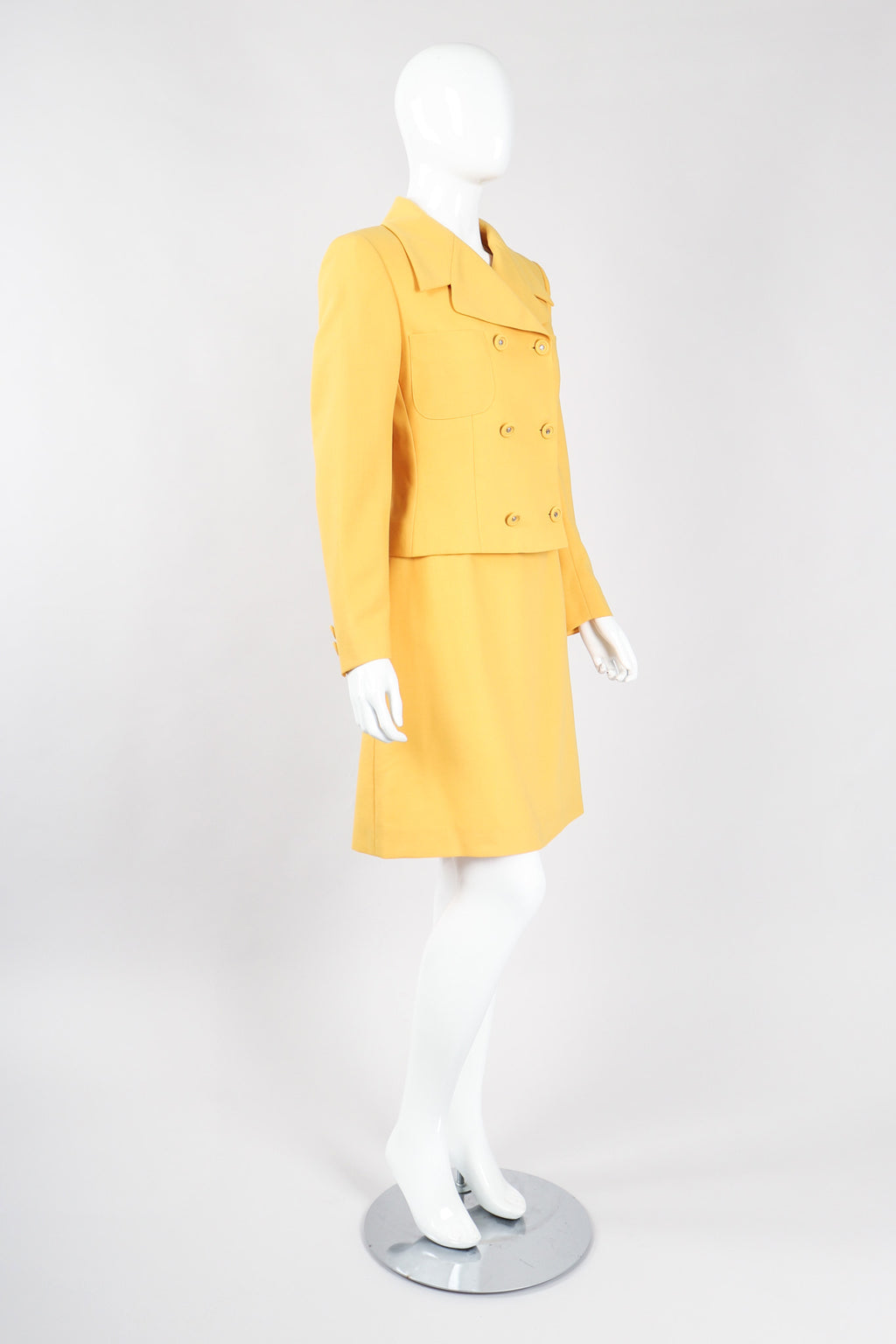 Recess Los Angeles Vintage Istante Versace Jackie O Golden Jacket & Skirt Suit Set