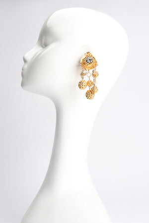 Vintage JRM Dome Waffle Ball Drop Earrings on Mannequin at Recess Los Angeles