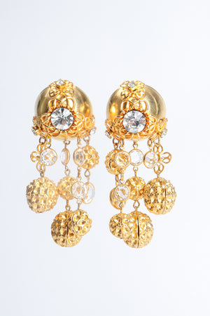 Vintage JRM Dome Waffle Ball Drop Earrings at Recess Los Angeles
