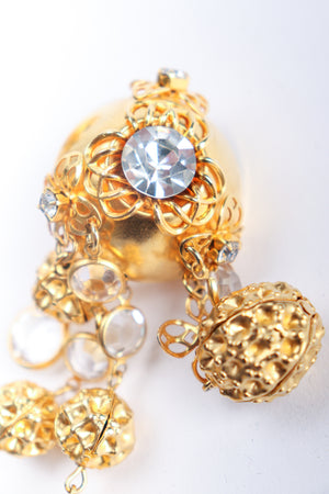Vintage JRM Dome Waffle Ball Drop Earrings detail at Recess Los Angeles