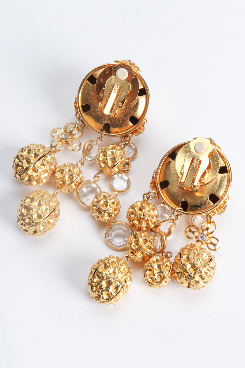 Vintage JRM Dome Waffle Ball Drop Earrings Backside at Recess Los Angeles