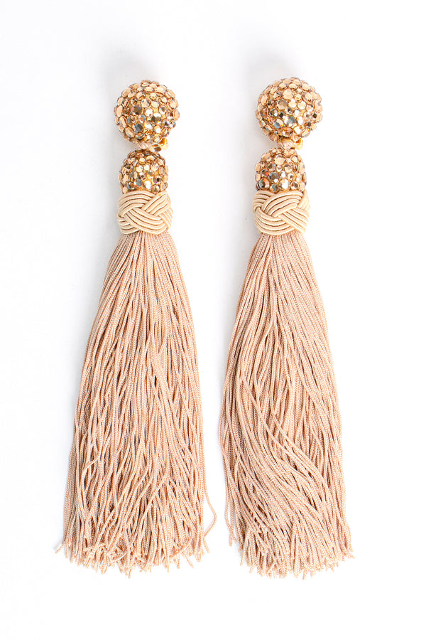 Vintage James Arpad Blush Long Tassel Earrings at Recess Los Angeles