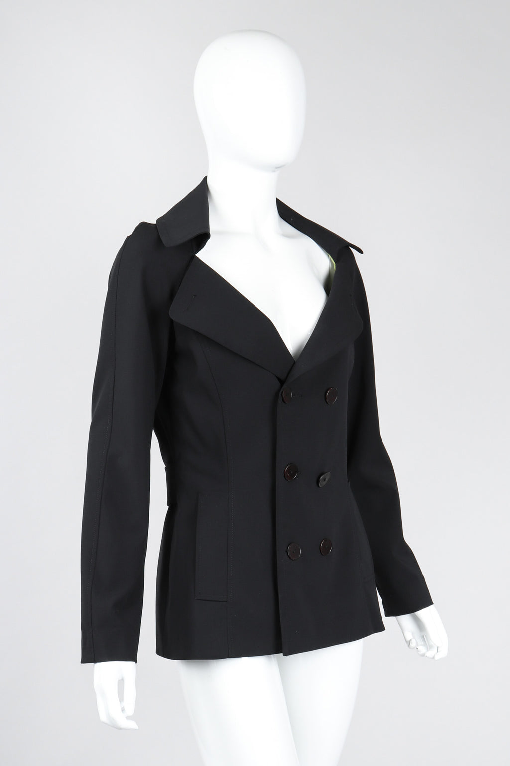 Recess Los Angeles Vintage Jean Paul Gaultier Diamond Collar Sailor Peacoat
