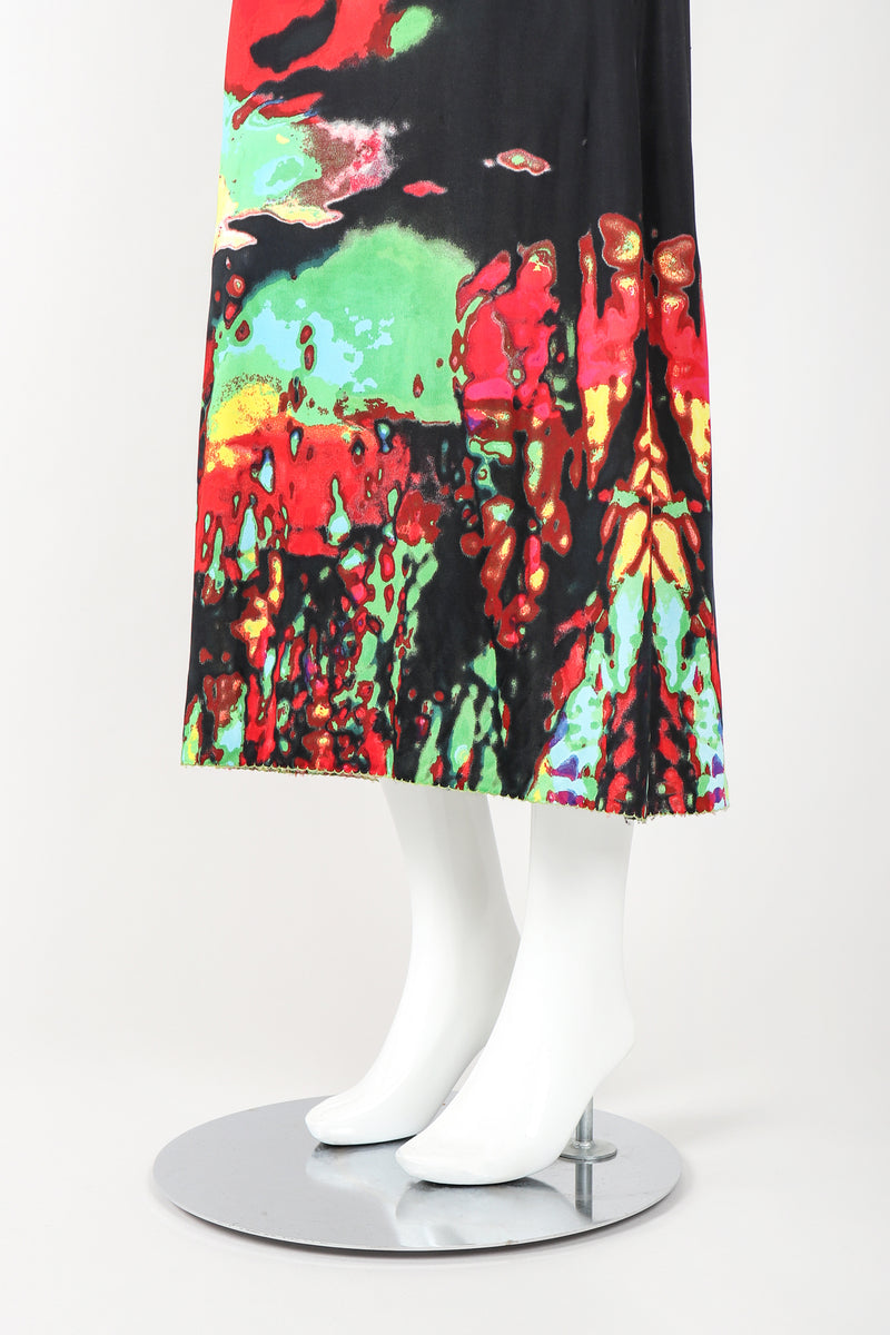 Recess Designer Consignment Vintage Jean Paul Gaultier S/S 2000 Abstract Photo Triple Exposure Rasta Skirt Los Angeles Resale