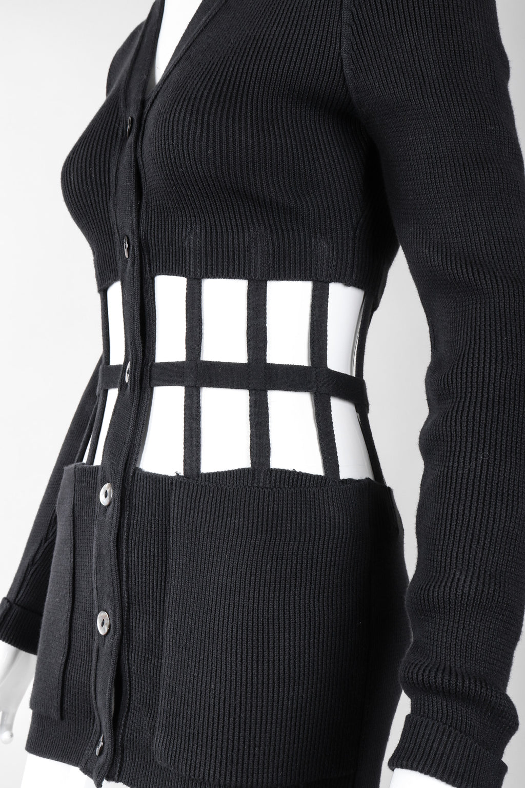 Recess Los Angeles Vintage Jean Paul Gaultier Corset Cage Cardigan Sweater