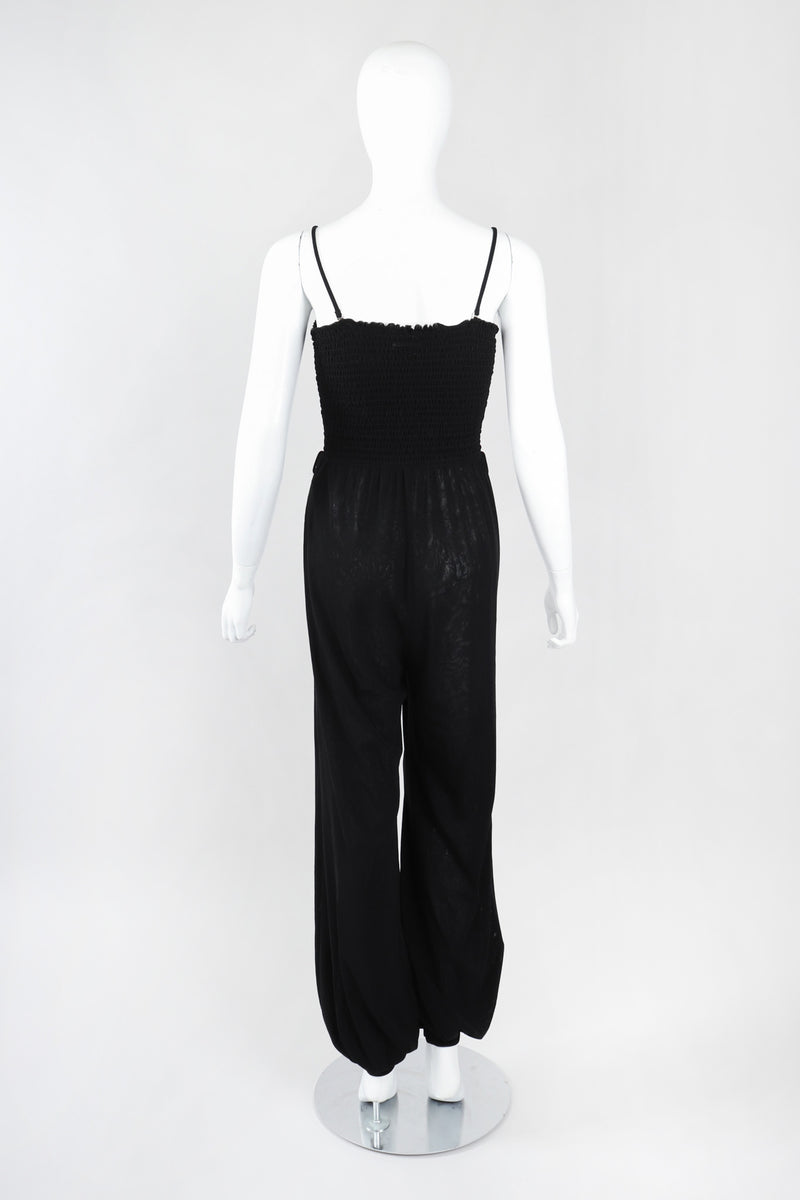 Recess Los Angeles Vintage Jean Paul Gaultier Soleil Convertible Shirred Mesh Harem Jumpsuit
