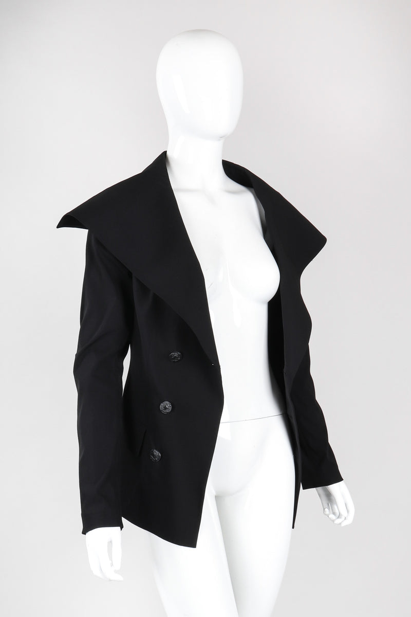Recess Los Angeles Vintage Jean Paul Gaultier Oversized Lapel Sailor Collar Jacket