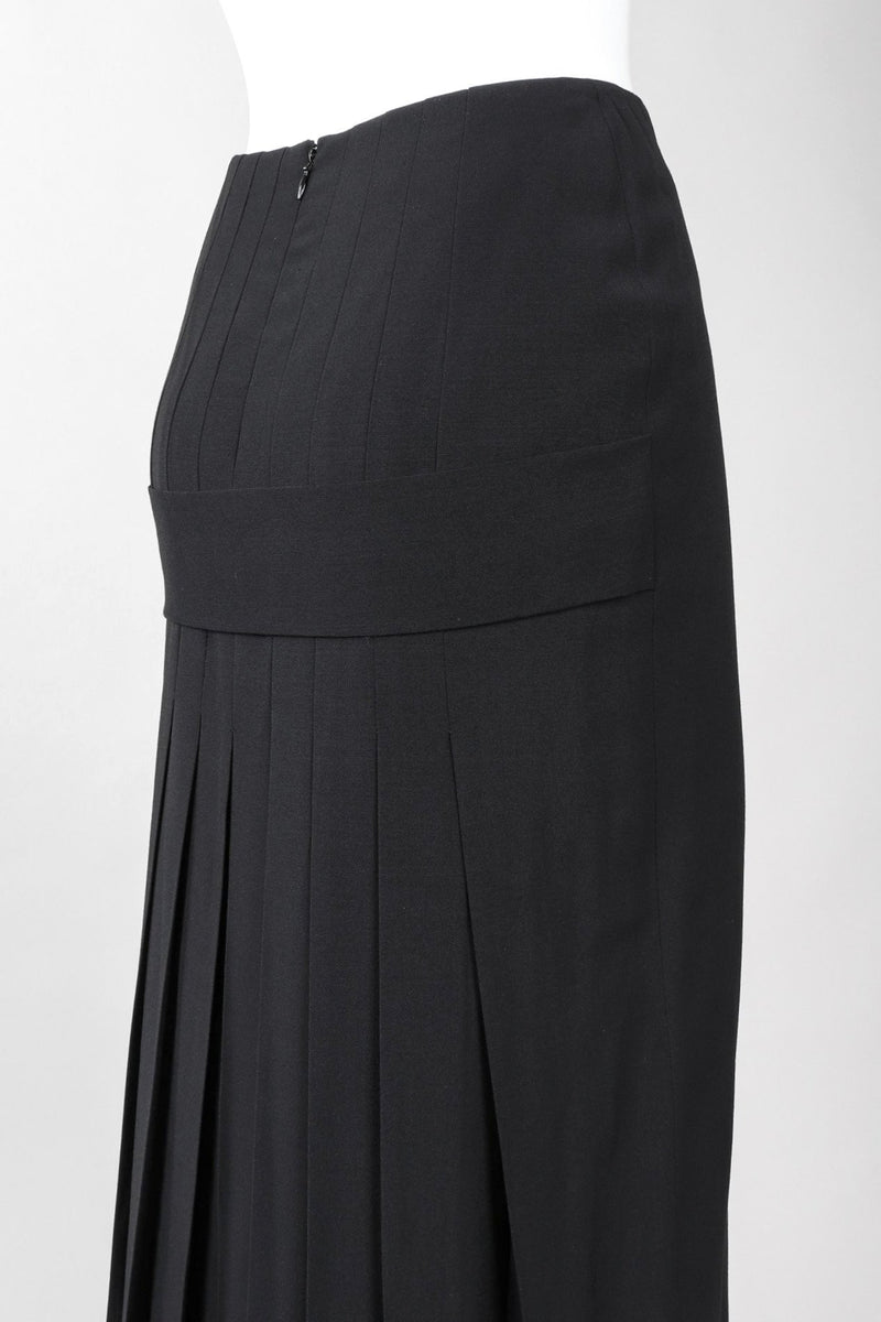 Recess Los Angeles Vintage Jean Paul Gaultier Wool Pleat Back Goth Skirt