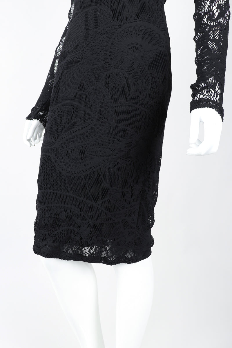 Recess Designer Consignment Vintage Jean Paul Gaultier Soleil Crochet Net Mesh Lace Dress Los Angeles Resale