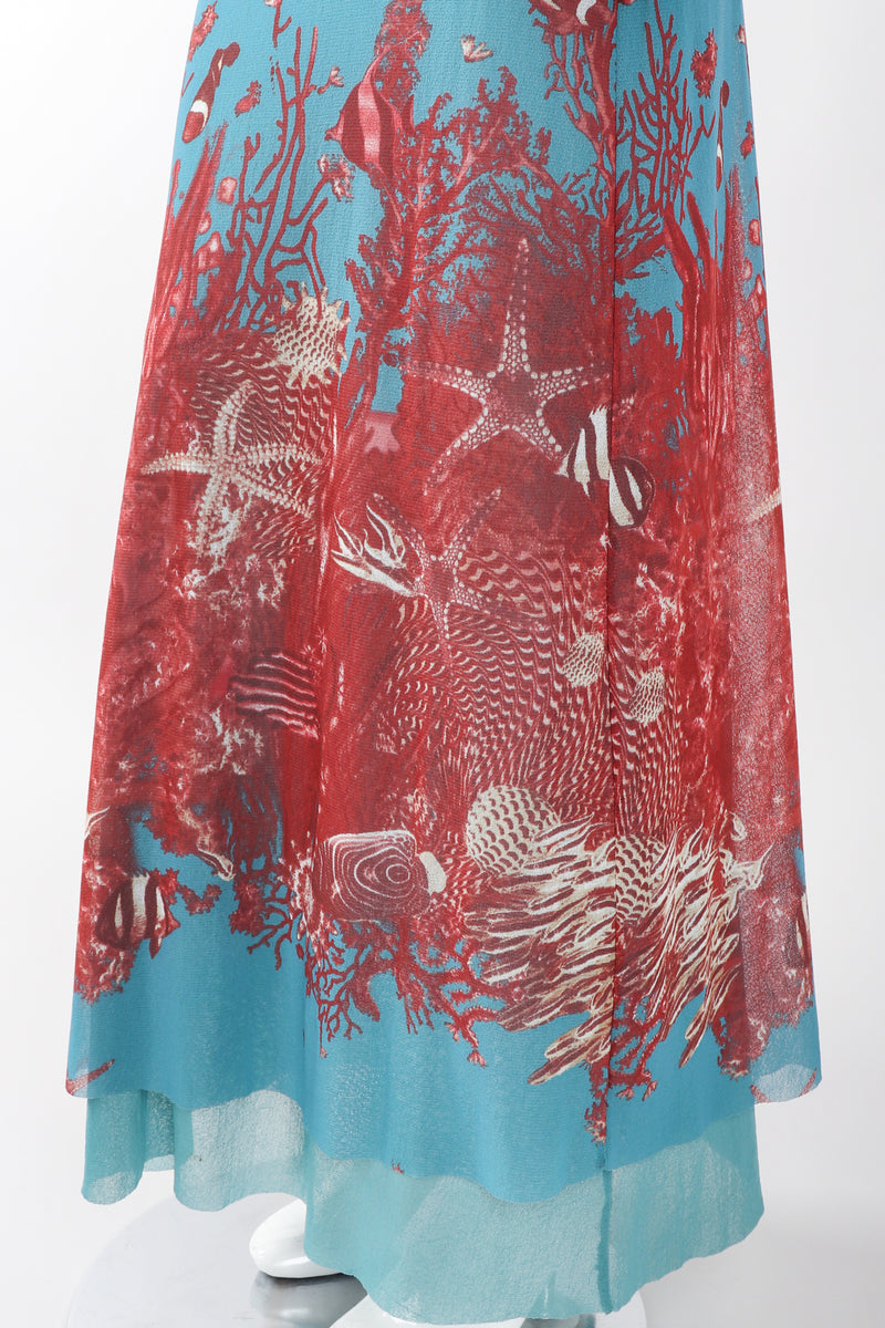 Recess Los Angeles Designer Consignment Vintage Jean Paul Gaultier 90s Soleil Mesh Coral Reef Aquarium Dress