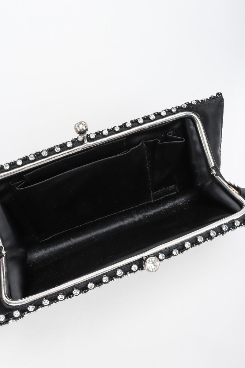 Recess Los Angeles Vintage Bags by Josef Crystal Mesh Kissing Clutch