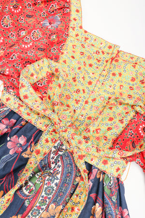 Recess Los Angeles Designer Consignment Vintage Joseph Magnin Cotton Boho Peasant Apron Dress