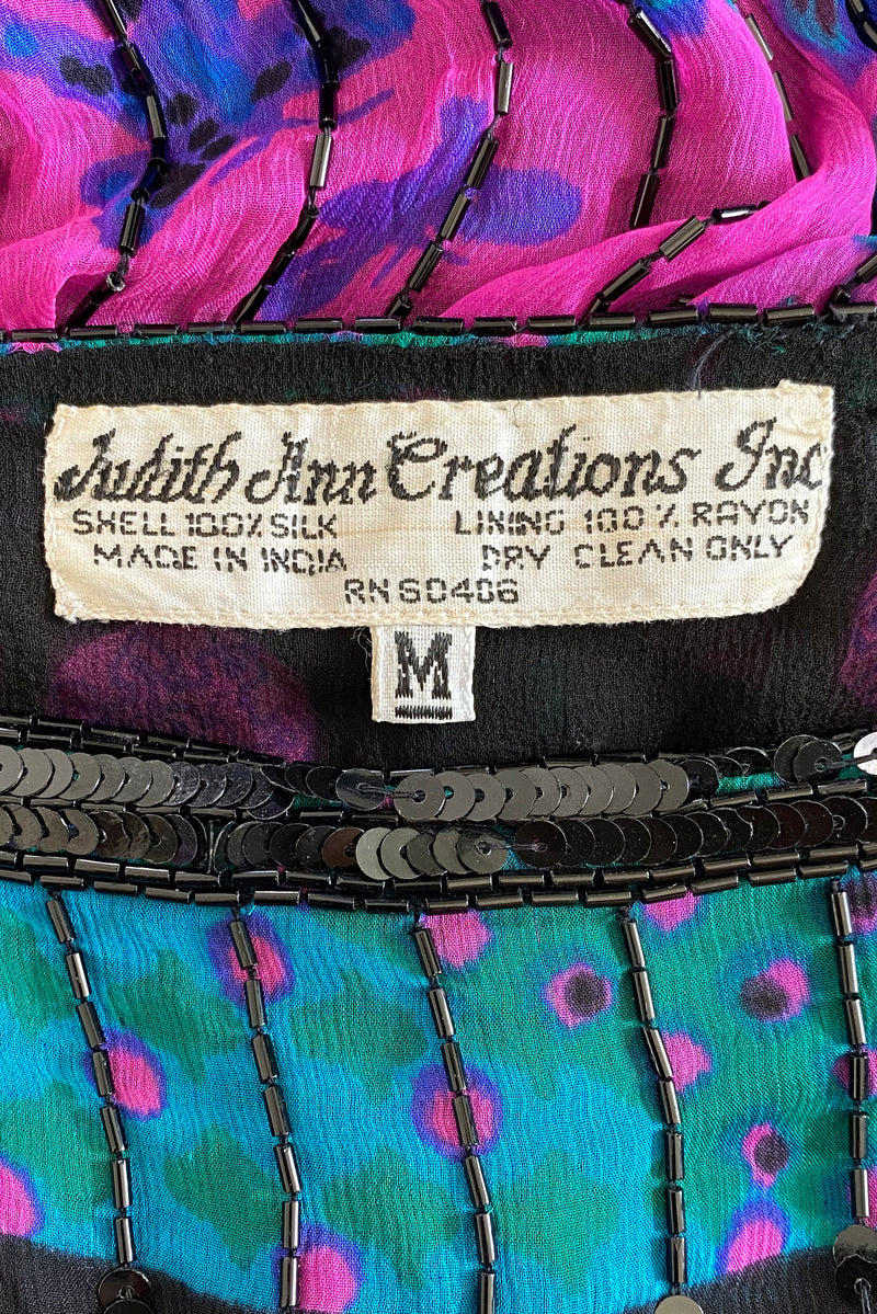 Vintage Judith Ann Creations Beaded Bateau Dress label at Recess Los Angeles