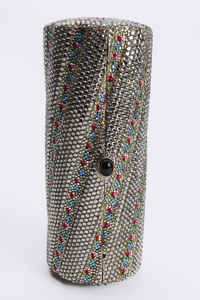 Rhinestone Scalloped Clutch