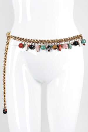 Recess Los Angeles Vintage Judith Leiber Rock Crystal Fringe Chain Belt