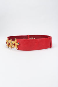 Recess Los Angeles Vintage Judith Leiber Starfish Lizard Slide Belt