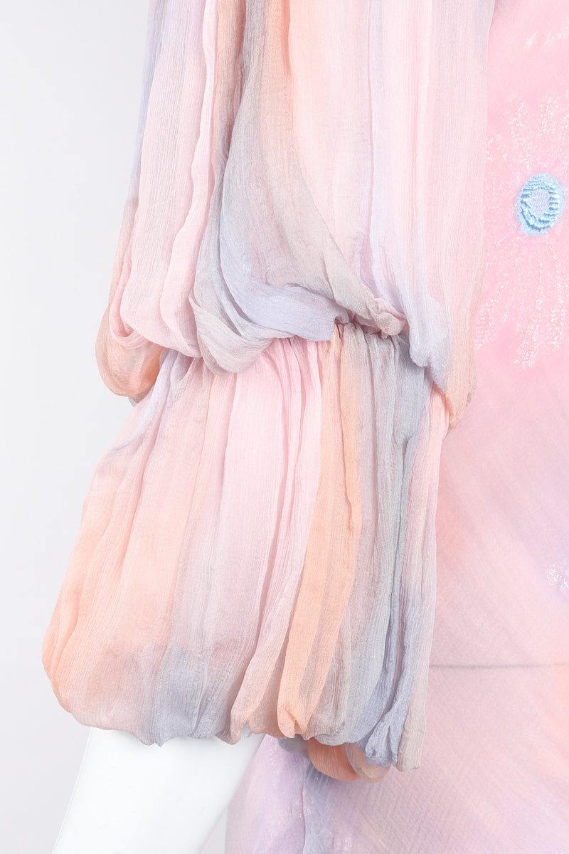 Recess Los Angeles Vintage Judy Hornby Silk Chiffon Sunset Sky Bias Dress