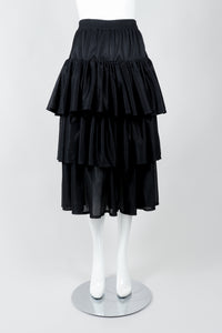 Vintage Junior Gaultier Sport Tiered Mesh Skirt on Mannequin front at Recess Los Angeles