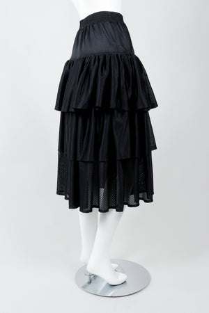 Vintage Junior Gaultier Sport Tiered Mesh Skirt on Mannequin side at Recess Los Angeles