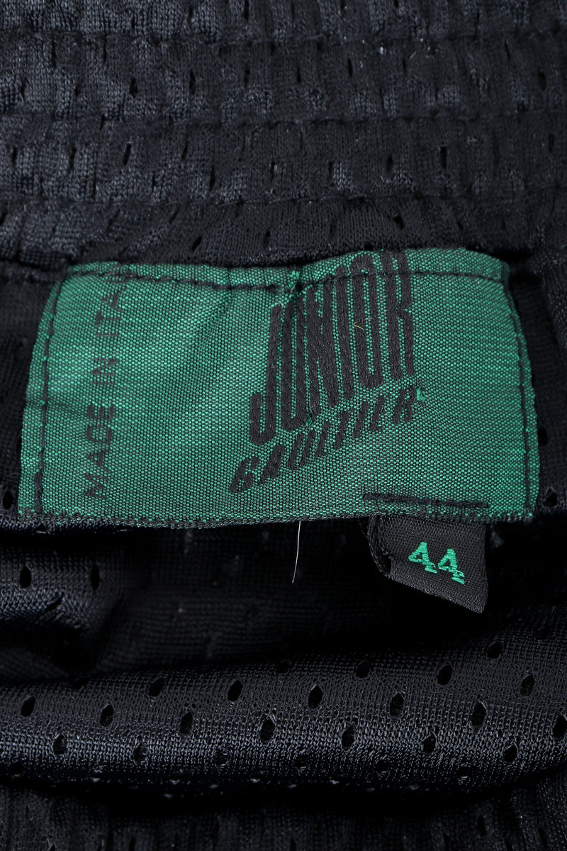 Vintage Junior Gaultier label on black