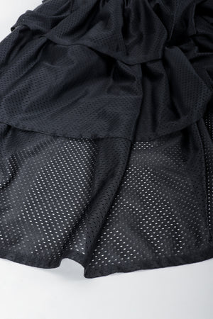 Vintage Junior Gaultier Sport Tiered Mesh Skirt perforated tricot mesh fabric