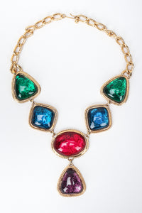 Recess Los Angeles Vintage Kenneth Jay Lane Avon Multicolor Jewel Ton Resin Gold Link Necklace Caprianti