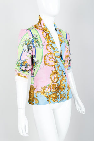 Vintage Kamosho by Marina Sitbon Baroque Circus Parade Jacket on mannequin angled at Recess
