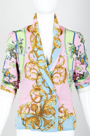 Vintage Kamosho by Marina Sitbon Baroque Circus Parade Jacket on mannequin front crop at Recess