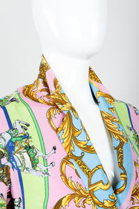 Vintage Kamosho by Marina Sitbon Baroque Circus Parade Jacket on mannequin neckline at Recess