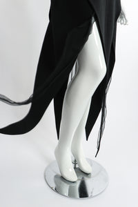 Vintage Karl Lagerfeld Layered Pointed Hem Dress skirt hem on Mannequin at Recess Los Angeles