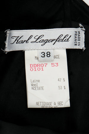 Vintage Karl Lagerfeld Layered Pointed Hem Dress label at Recess Los Angeles