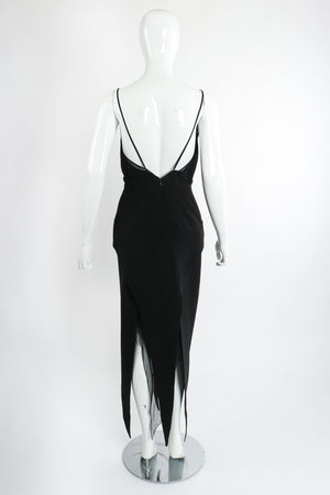 Vintage Karl Lagerfeld Layered Pointed Hem Dress on Mannequin back at Recess Los Angeles