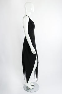 Vintage Karl Lagerfeld Layered Pointed Hem Dress on Mannequin side at Recess Los Angeles