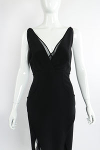 Vintage Karl Lagerfeld Layered Pointed Hem Dress on Mannequin front crop at Recess Los Angeles