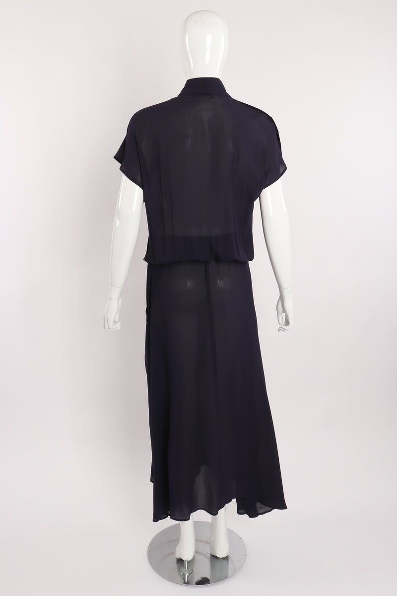 Vintage Karl Lagerfeld Sheer Longline Shirt Dress on Mannequin back at Recess Los Angeles