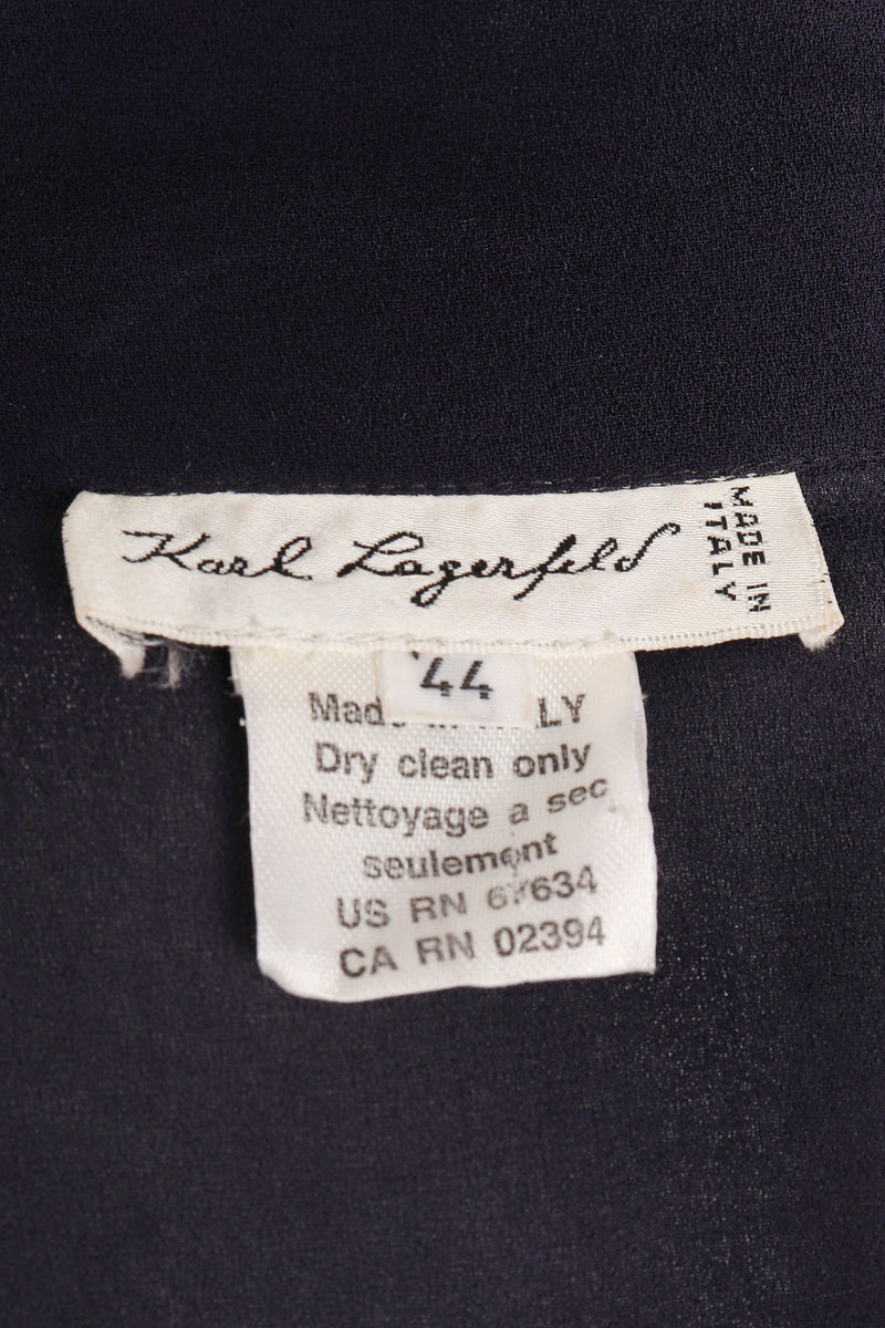 Vintage Karl Lagerfeld Sheer Longline Shirt Dress label at Recess Los Angeles