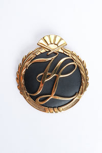 Vintage Karl Lagerfeld Oversized Monogram Logo Brooch at Recess Los Angeles