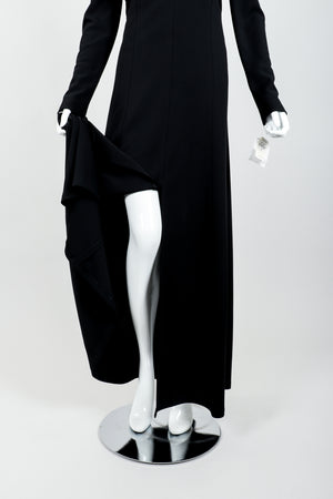 Vintage Karl Lagerfeld Twist Front Dress on Mannequin slit at Recess Los Angeles