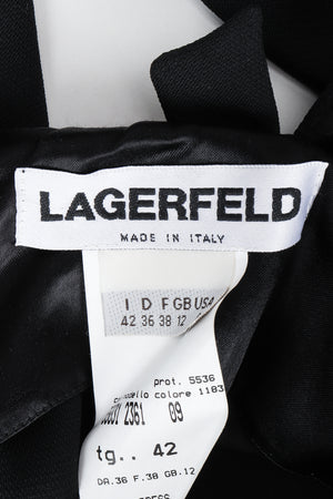 Vintage Karl Lagerfeld Twist Front Dress label at Recess Los Angeles