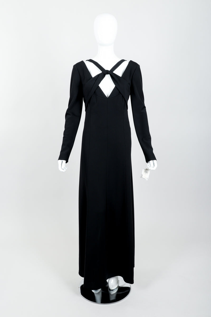 Vintage Karl Lagerfeld Twist Front Dress on Mannequin front at Recess Los Angeles