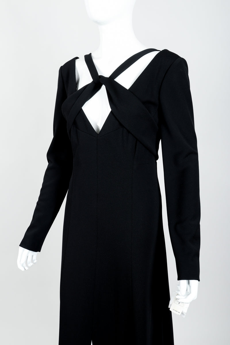Vintage Karl Lagerfeld Twist Front Dress on Mannequin crop at Recess Los Angeles