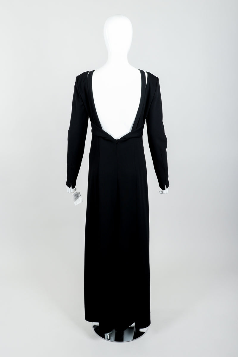 Vintage Karl Lagerfeld Twist Front Dress on Mannequin back at Recess Los Angeles